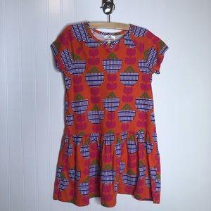 Hanna Andersson Orange Floral Print Dress 130/8